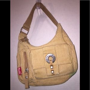 Mudd's 💯 Cotton Beige Corduroy Hobo Handbag